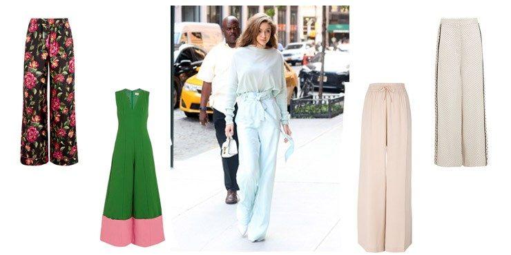 Альтернатива летней юбке — брюки-палаццо