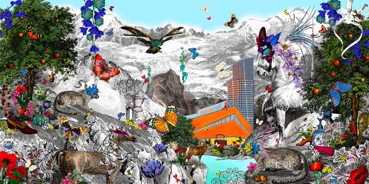 Художница Кристьяна Уилльямс создала иллюстрацию для рекламной кампании Esentai Mall