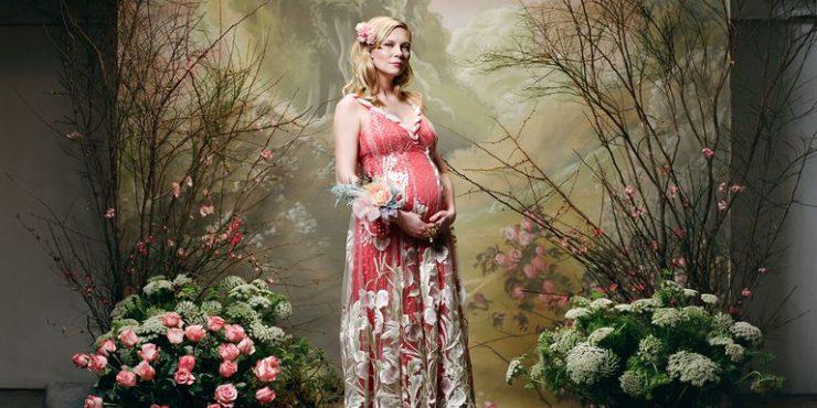Лесная фея: беременная Кирстен Данст в новом лукбуке Rodarte