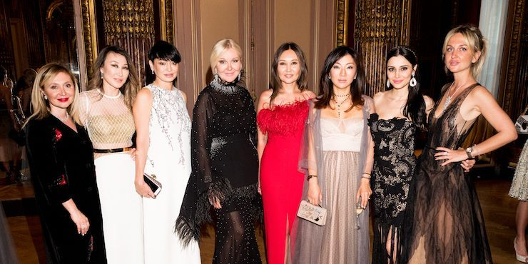 Модный десант из Казахстана на гала-ужине Damiani и Yanina Couture в  Париже