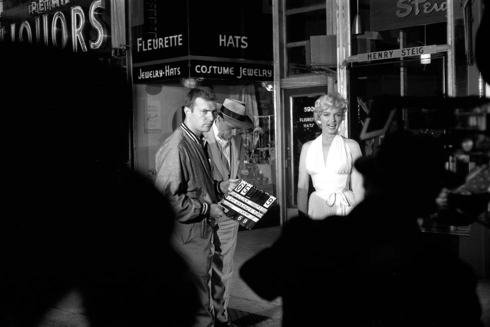 Фотографии Мэрилин Монро на съемочной площадке