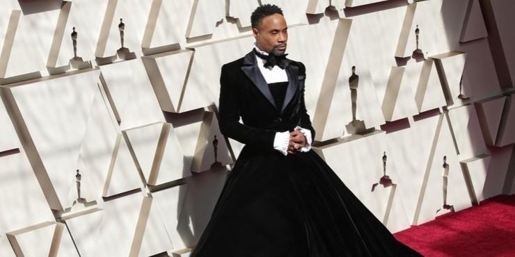 Эзра Миллер, подвинься! Актер Билли Портер появился на «Оскаре» в платье