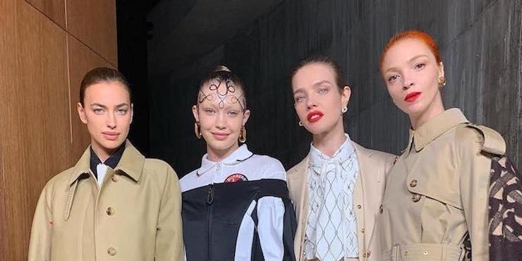 Инстаграм моделей во время лондонской Недели моды