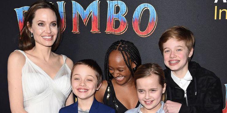 Редкий выход: Анджелина Джоли с детьми на премьере фильма «Дамбо»