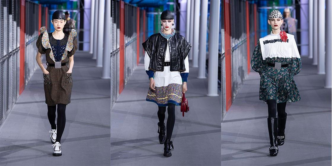 Кожаные тюбетейки на показе новой коллекции Louis Vuitton