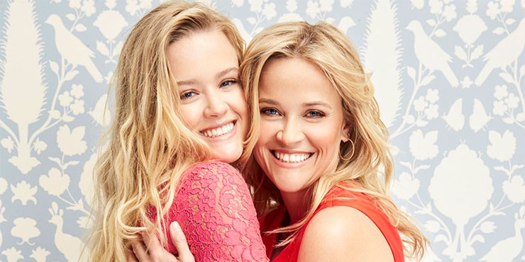 Риз Уизерспун с дочерью на премьере сериала «Большая маленькая ложь»