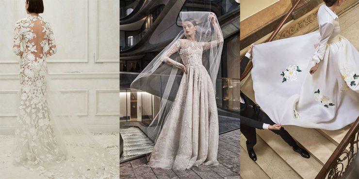 100 свадебных платьев с длинными рукавами