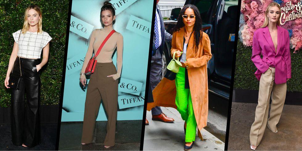 С чем носить широкие брюки? 10 примеров