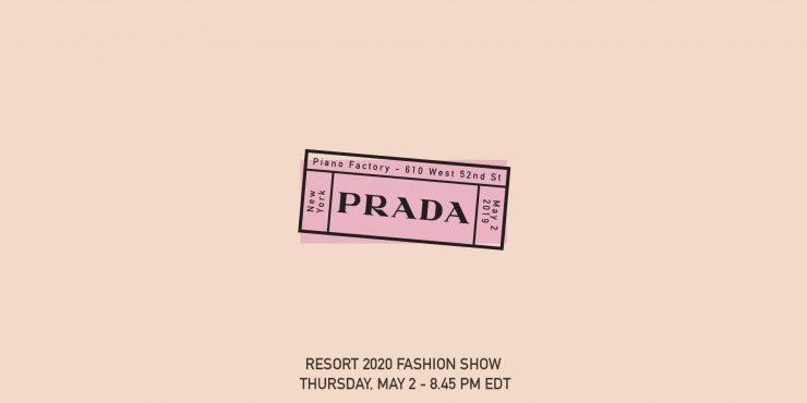 Прямая трансляция показа Prada Resort 2020