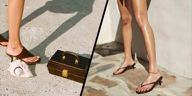 Вьетнамки на каблуке как главная обувь этого лета