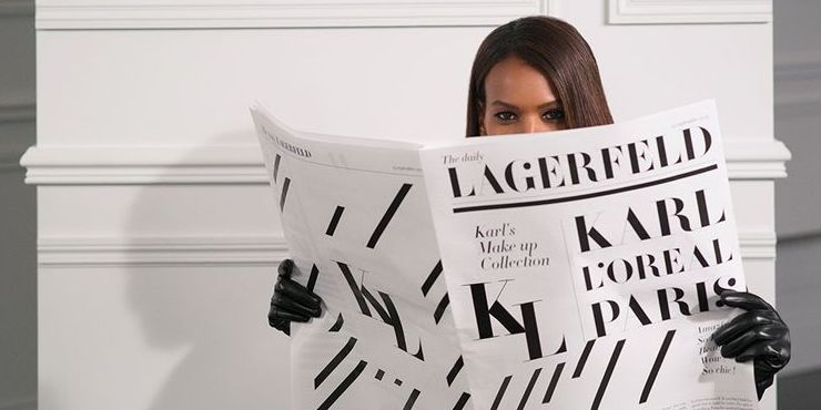 Karl Lagerfeld и L'Orèal Paris запускают линию косметики
