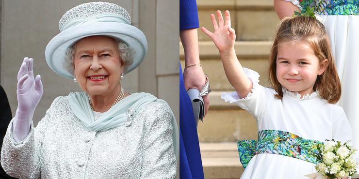 12 раз, когда принцесса Шарлотта и королева Елизавета были похожи как две капли воды