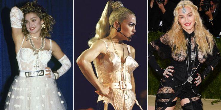 40 шокирующих нарядов Мадонны