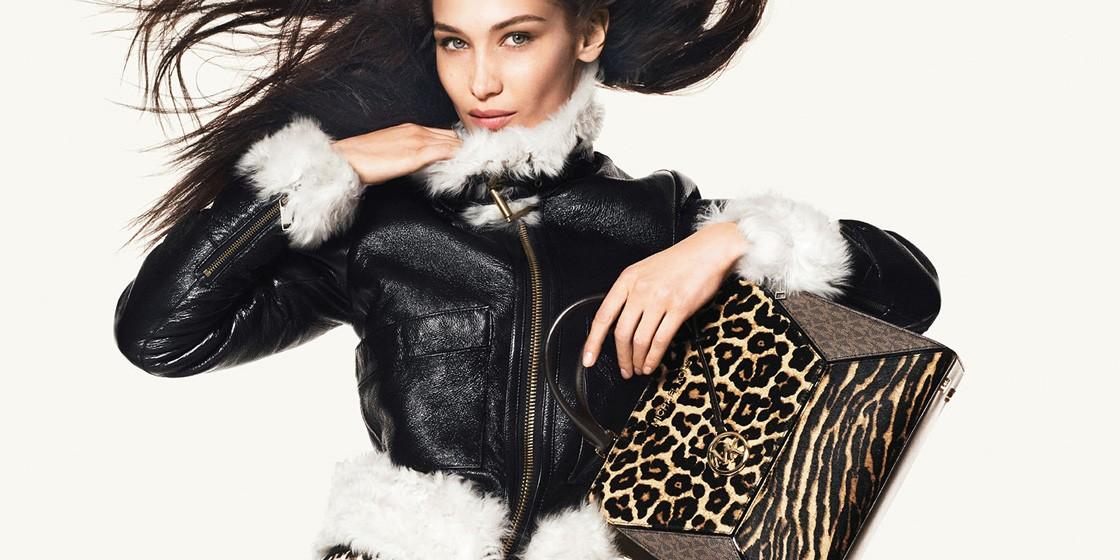 Белла Хадид примеряет леопардовый принт в кампейне MICHAEL Michael Kors