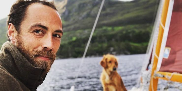 Брат Кейт Миддлтон прошелся по красной дорожке с собакой