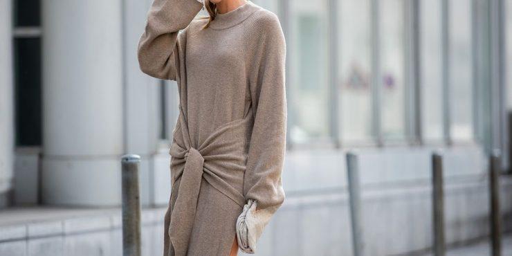 Платье свитер: 6 моделей, в которые хочется укутаться до конца зимы