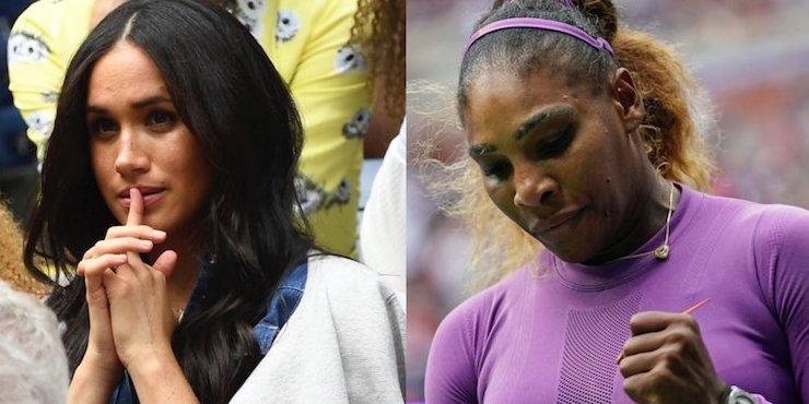 Антиталисман и проклятие: Меган Маркл обвиняют в поражениях Серены Уильямс