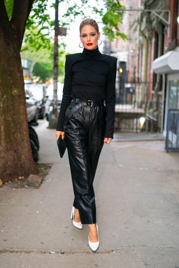 Кожаные брюки как главный «звездный» тренд этой осени