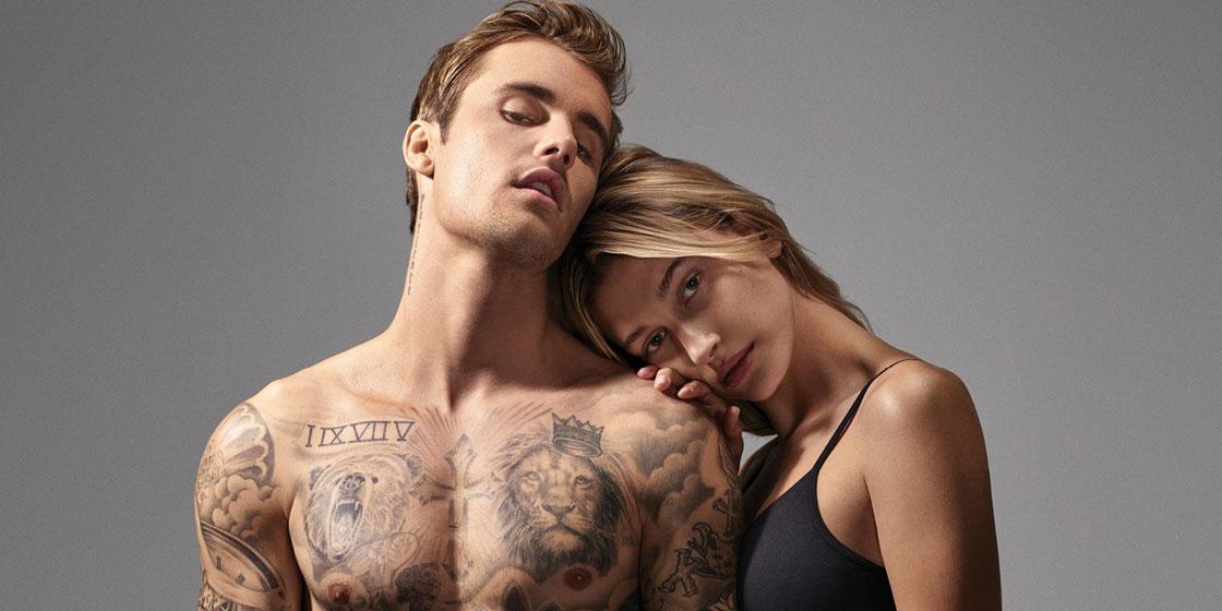 Хейли и Джастин Бибер в чувственном кампейне Calvin Klein