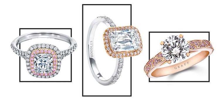 Как выглядят самые красивые розовые помолвочные кольца
