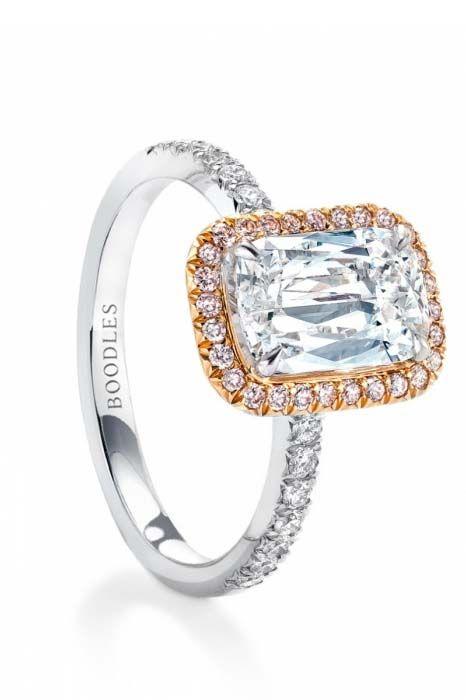 розовые помолвочные кольца