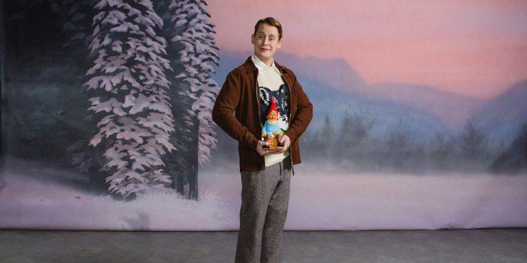 Маколей Калкин снялся в рекламе праздничных носков
