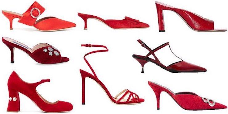 Красные туфли: лучшие варианты для новогодней вечеринки