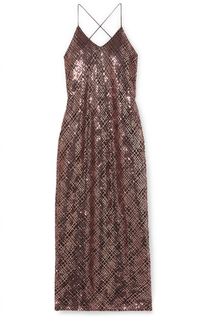 блестящее платье