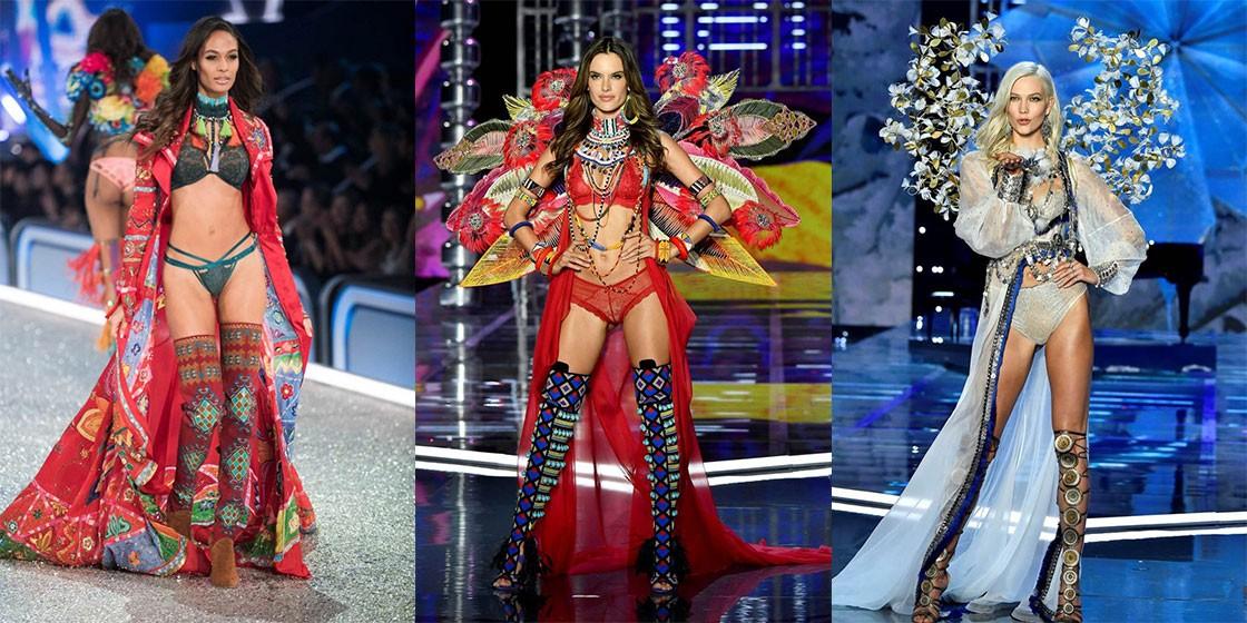 Модели Victoria's Secret на своем первом и последнем показах