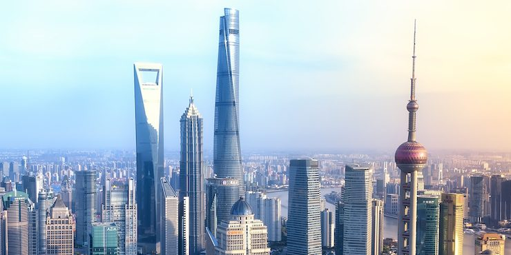 Модный ландшафт  Шанхая