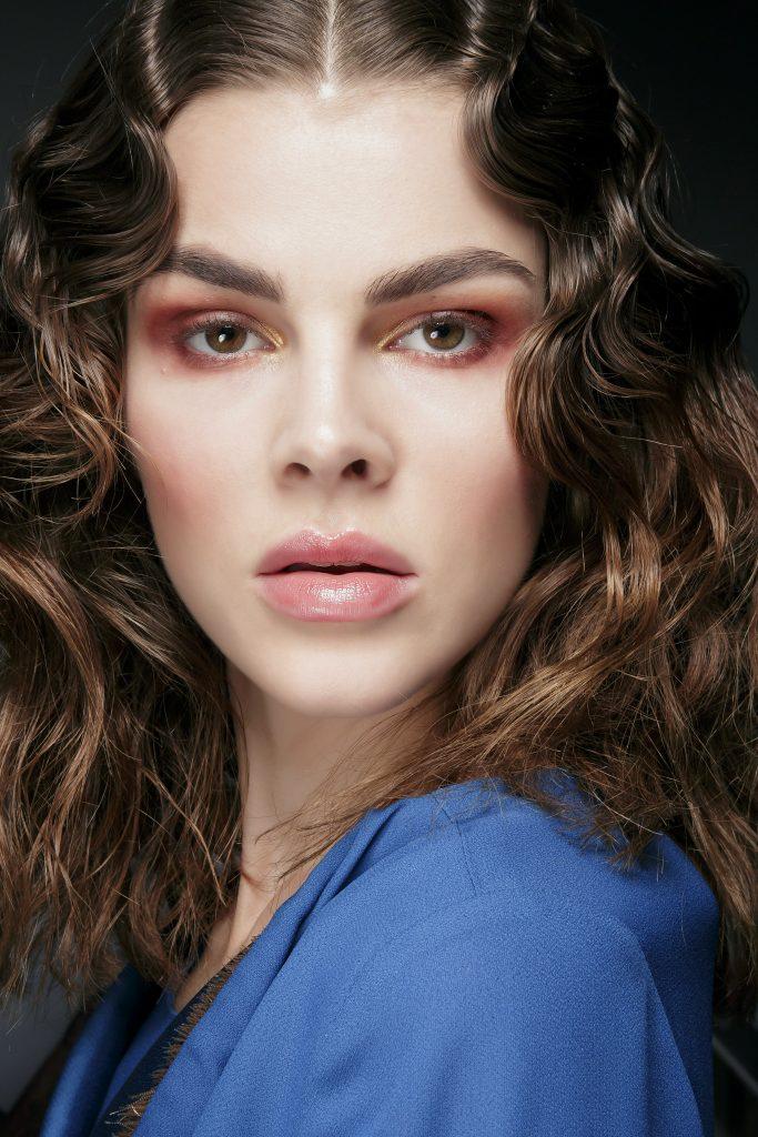 макияж для карих глаз: розово-золотые тени