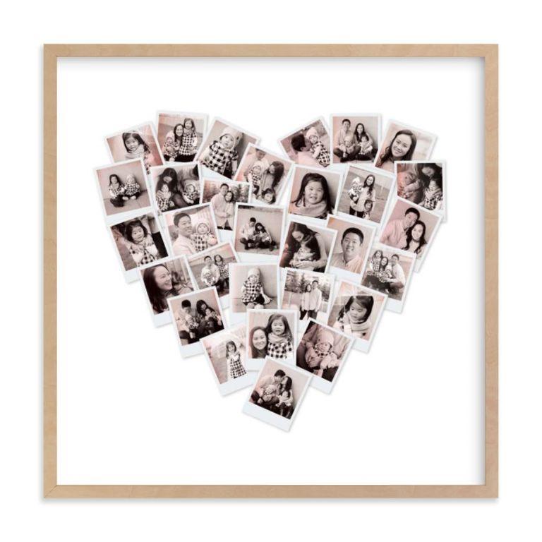 фотопортрет в форме сердца