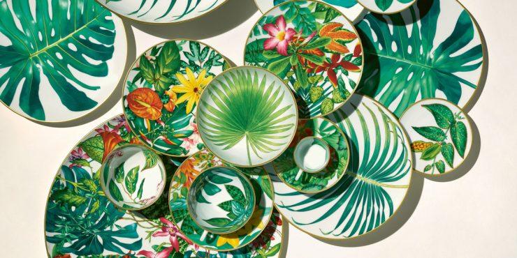 Hermès выпустили коллекцию посуды, вдохновленную экзотической природой