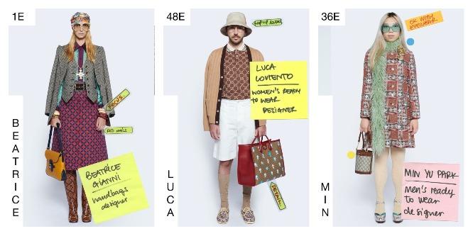 Моделями на показе Gucci стали дизайнеры бренда