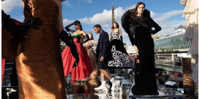 Казахские орнаменты на платьях Balmain