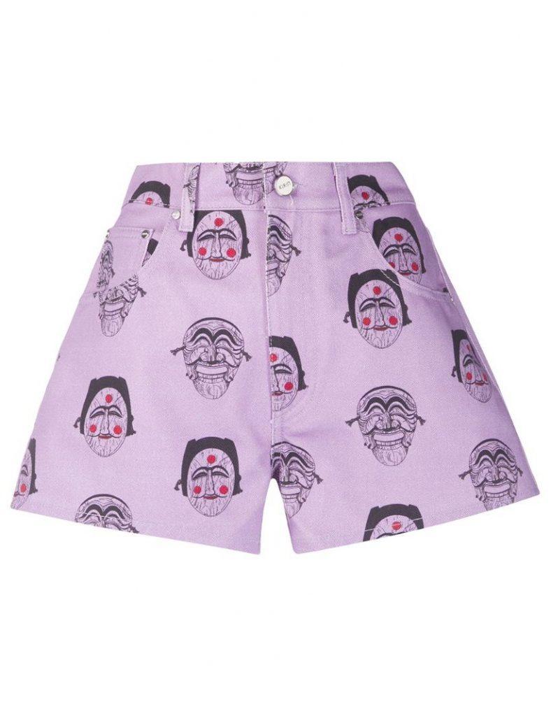шорты как вариант носить лиловый цвет