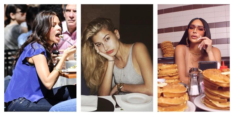 Знаменитости и еда, которую они ненавидят. Что не переваривают Хейли Бибер, Тайра Бэнкс и  Ким Кардашьян?