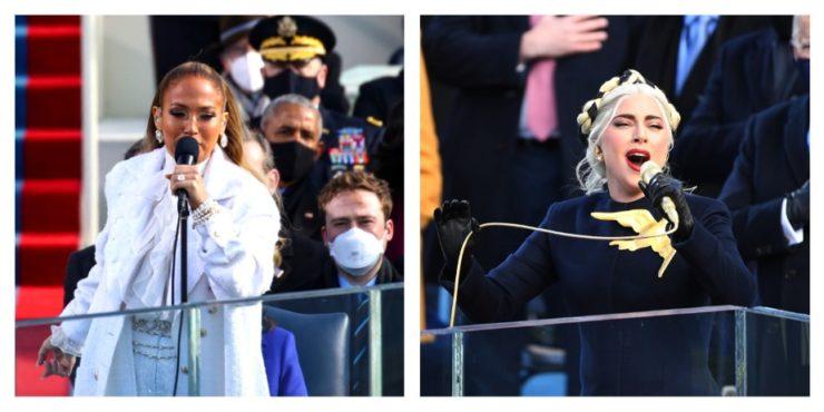 Джей Ло и Леди Гага устроили шоу в Капитолии: чей наряд был лучше?