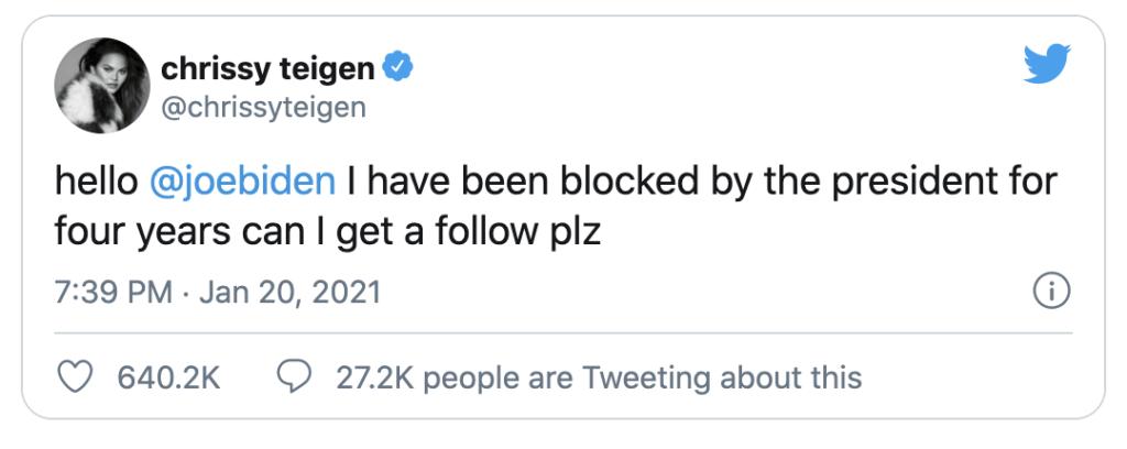 На кого подписан избранный президент Джо Байден в Twitter?