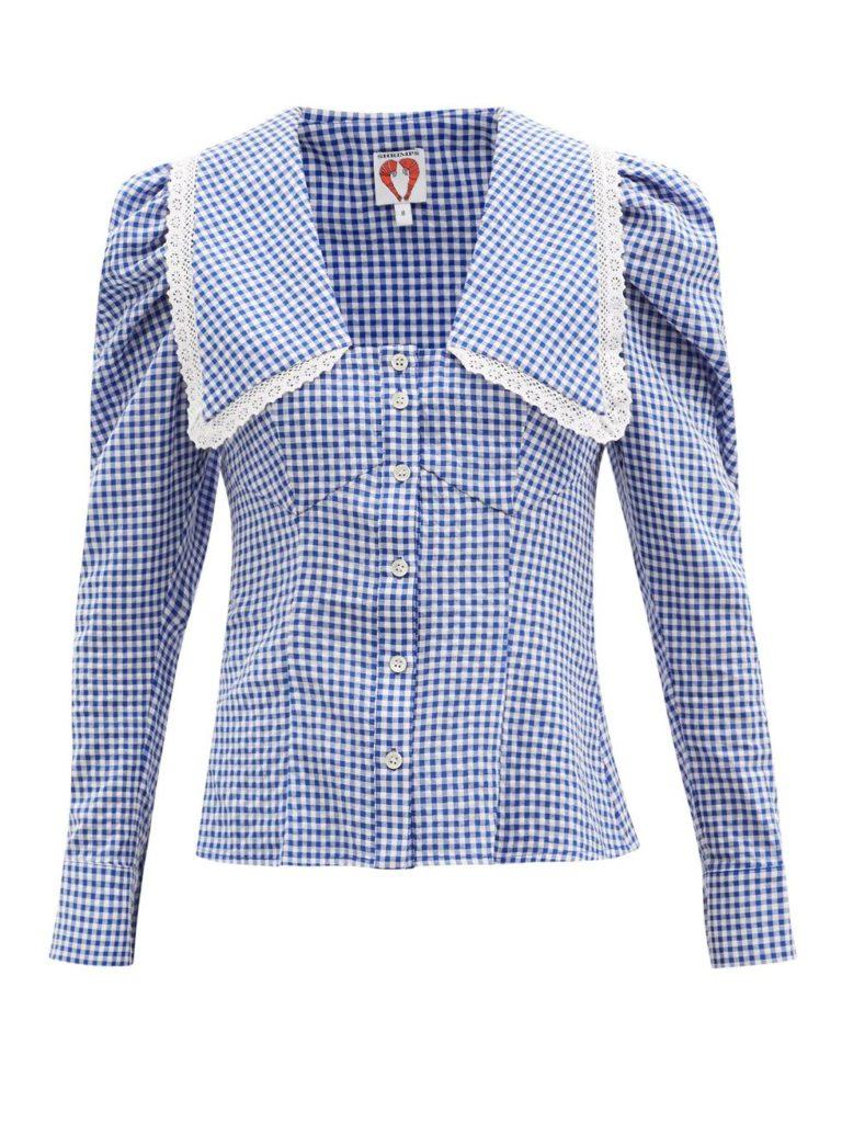 рубашки с отложным воротником