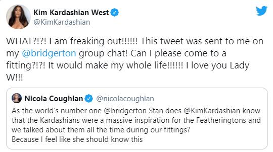 Ким Кардашьян стала новой леди Бриджертон?