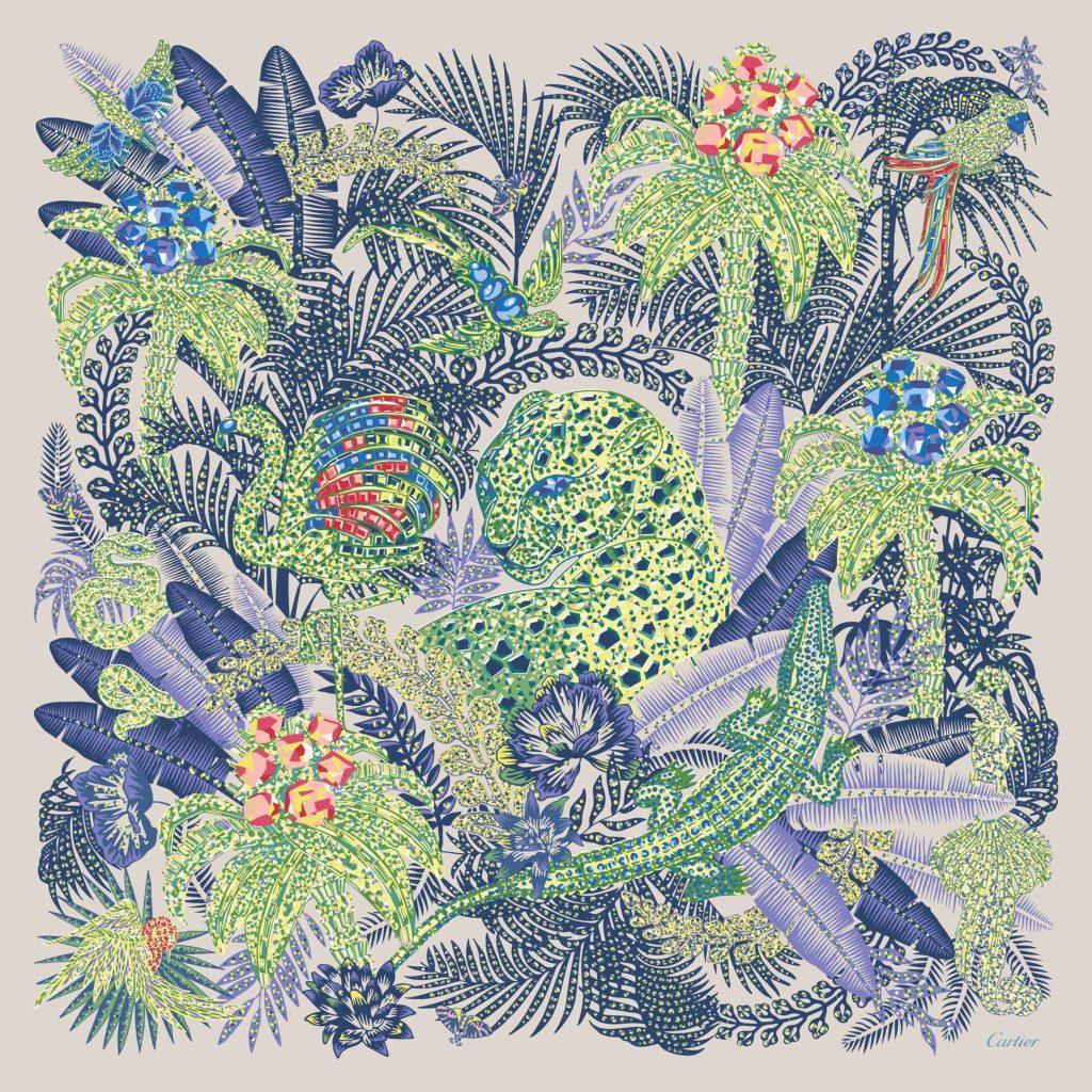 Cartier презентовали коллекцию шелковых платков