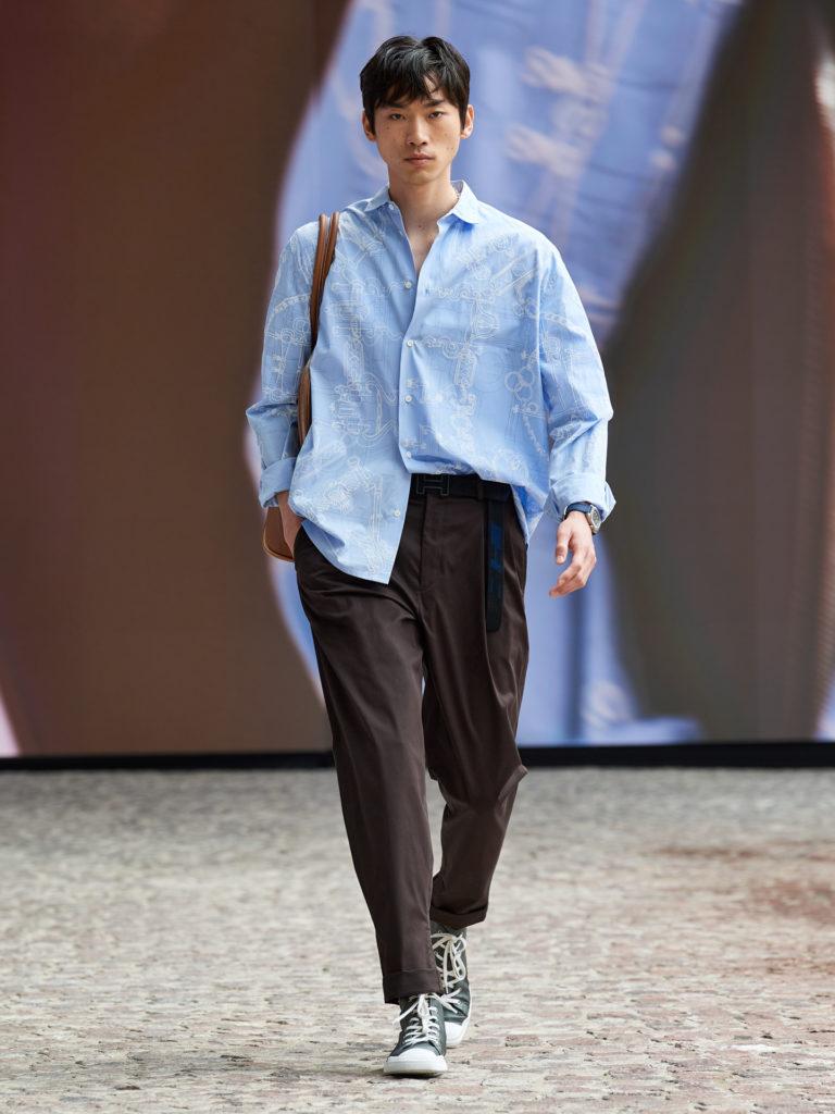 Мужская коллекция Hermès стала олицетворением гармонии