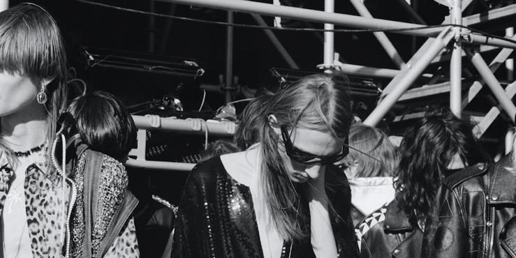 Экстремальное мотошоу на показе мужской коллекции Celine