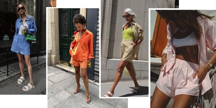 Шорты-боксеры и рубашка — самое модное сочетание этого лета