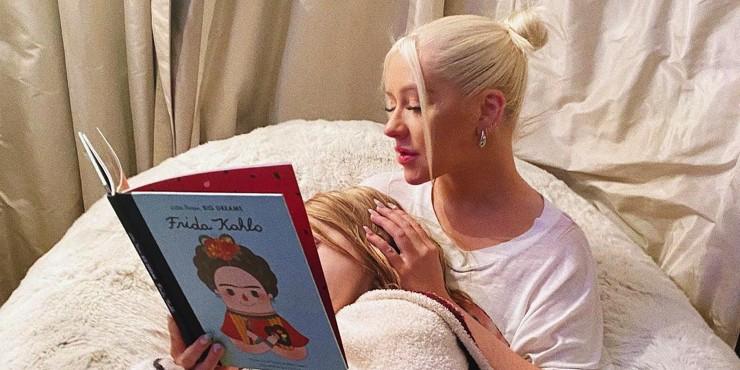 Само очарование: Кристина Агилера показала свою семилетнюю дочь