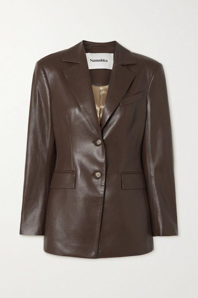 Кожаные пиджаки как главная модная инвестиция этой осени