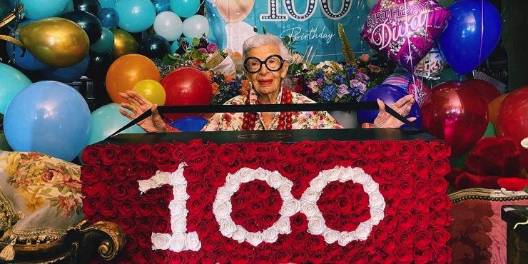 Как H&M поздравили Айрис Апфель со 100-летием?