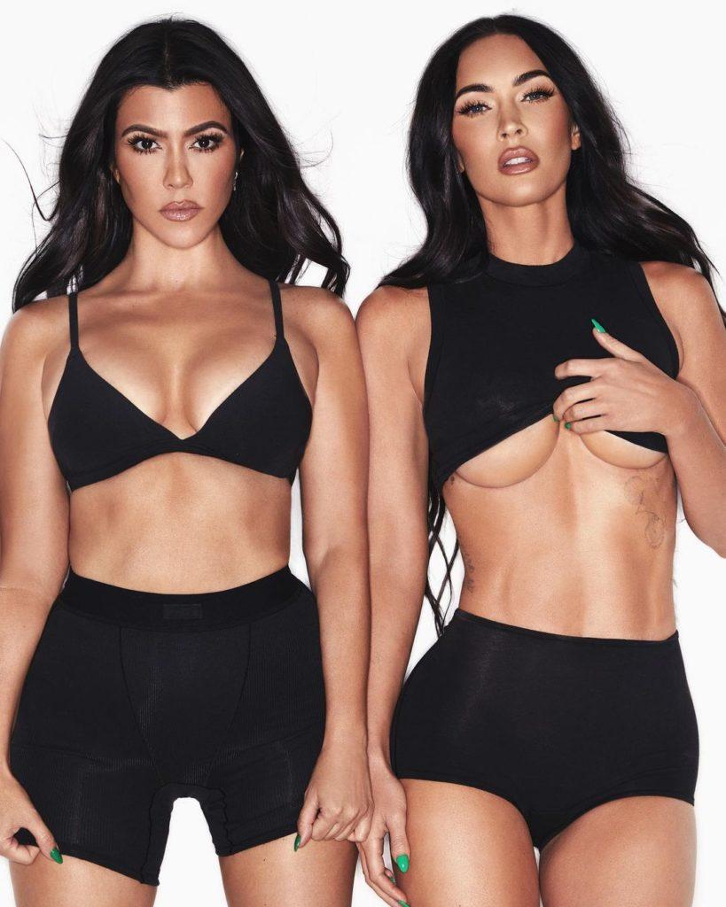 Меган Фокс и Кортни Кардашьян разделись в новой рекламной кампании SKIMS