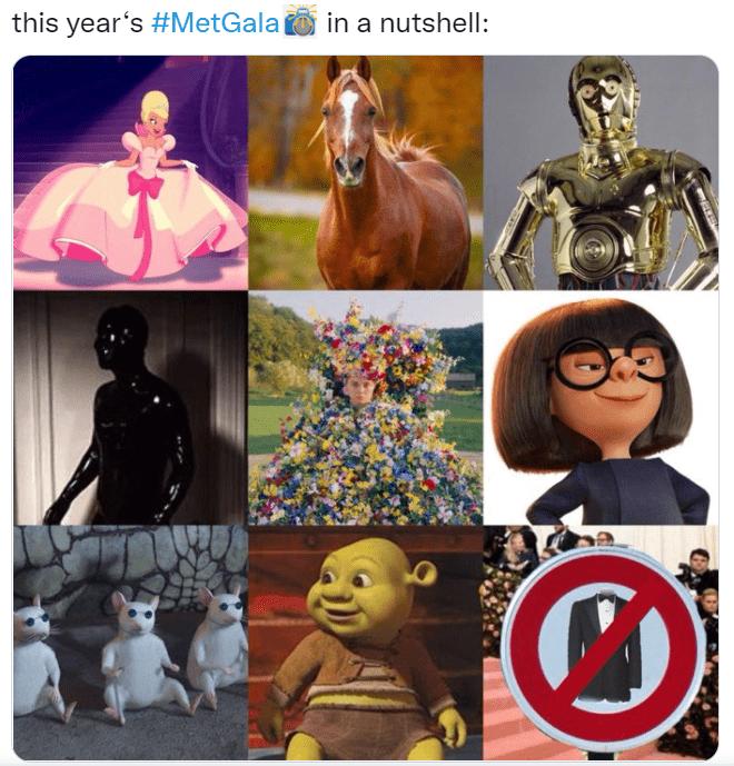 Met Gala 2021: самые оригинальные и смешные мемы